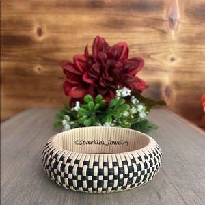 Plunder Web Bracelet - Hand woven wicker bangle